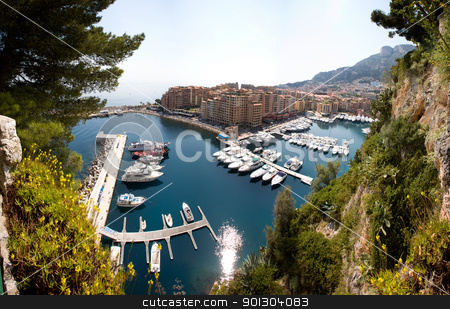 Monaco, Monte Carlo Landscape stock photo, A landsacpe of a habor in Monaco, Monte Carlo by Tyler Olson