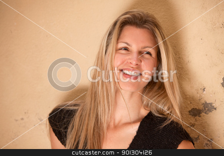 Happy Beautiful Smile stock photo, A casual portrait of a happy beautiful smiling woman by Tyler Olson