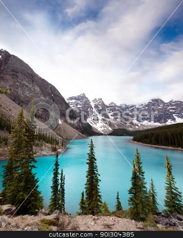 Moraine Lake stock photo, Landscape of Moraine Lake, Banff National Park, Alberta, Canada by Tyler Olson
