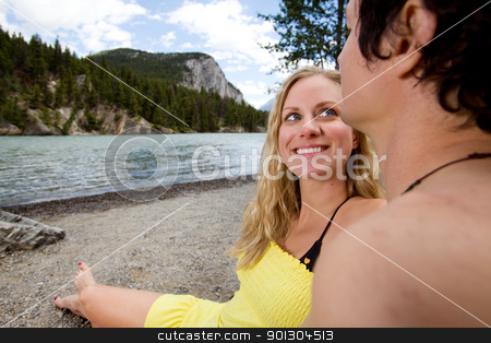 Banff Holiday stock photo, A happy couple on a holiday in Banff, Canada by Tyler Olson
