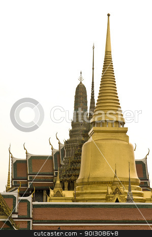 Grand Palace in Bangkok, Thailand stock photo, Famous Thailand's landmark, Grand Palace in Bangkok by johnnychaos