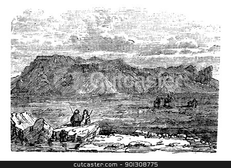 Ruins of the Temple of Zeus Belus in Babil vintage engraving. stock vector clipart, West view of the Ruins of the Temple of Zeus Belus in Babil, Iraq, during the 1890s, vintage engraving. Old engraved illustration of the Ruins of the Tower of Belus in Babil. by Patrick Guenette