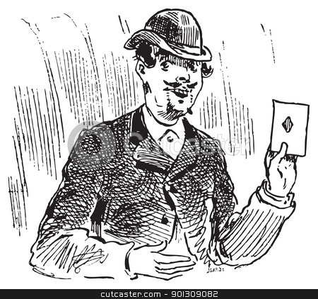 The three card trickster engraving illustration stock vector clipart, The three card trickster engraving. The three card trick or three card monte is one of the oldest cheats around, as records of tricks based on the same principle date back to the fifteenth century. by Patrick Guenette