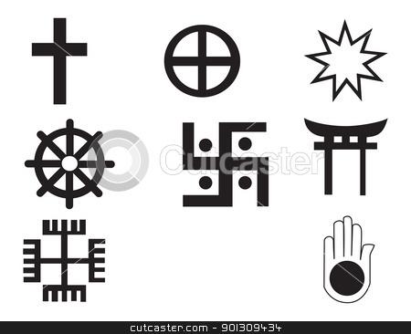 Different Religions Symbols Stock Vector