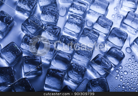 Crystals ice cubes stock photo, Ice can refer any of the 14 known solid phases of water. However, in non-scientific contexts, it usually describes ice Ih, which is the most abundant of these phases in Earth's biosphere. This type of ice is a soft, fragile, crystalline solid, which can appear transparent or an opaque bluish-white color depending on the presence of impurities such as air. The manufacture and use of ice cubes or crushed ice is common for drinks.  by Sebastian Duda