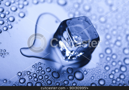 Ice cubes stock photo, Ice can refer any of the 14 known solid phases of water. However, in non-scientific contexts, it usually describes ice Ih, which is the most abundant of these phases in Earth's biosphere. This type of ice is a soft, fragile, crystalline solid, which can appear transparent or an opaque bluish-white color depending on the presence of impurities such as air. The manufacture and use of ice cubes or crushed ice is common for drinks. by Sebastian Duda