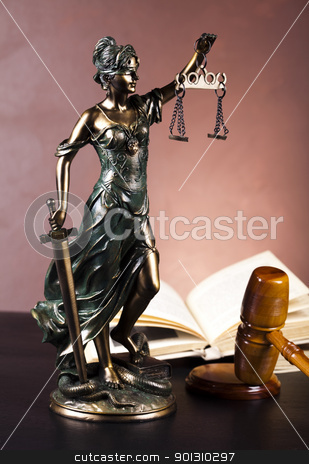 Law and justice concept stock photo, Law and justice concept in studio. by Sebastian Duda