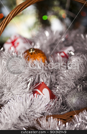 Christmas  stock photo, Photography of baubles and gift connected with Christmas time and Christmas tree. by Sebastian Duda