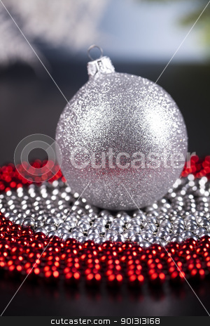 Bauble stock photo, Photography of baubles and gift connected with Christmas time and Christmas tree. by Sebastian Duda