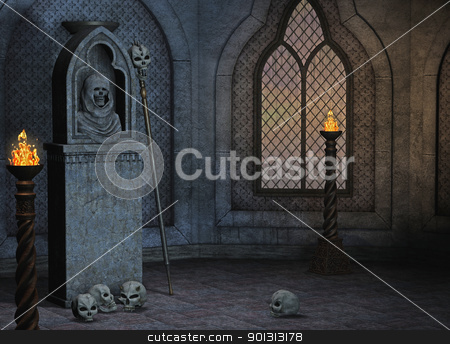 spooky room stock photo, 3d render of a spooky scene by ancello