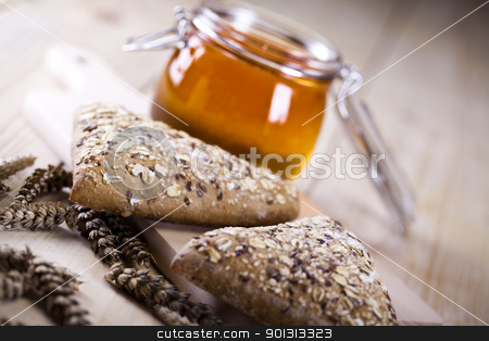 Breakfast  stock photo, Still-life assortment of baked bread. by Sebastian Duda