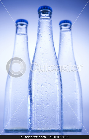 Water bottle background stock photo, Water is the most important element for all lives on the Earth. by Sebastian Duda