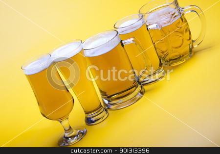 Beer glass stock photo, Beer collection, glass in studio. by Sebastian Duda