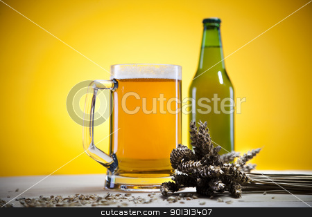 The still life with beer stock photo, Beer collection, glass in studio. by Sebastian Duda