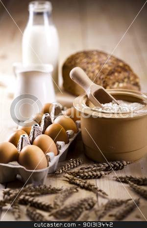 Bread composition stock photo, Still-life assortment of baked bread. by Sebastian Duda