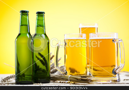 Beer bottle and glass stock photo,  by Sebastian Duda