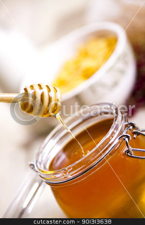 Honey  stock photo, Still-life assortment of breakfast. by Sebastian Duda