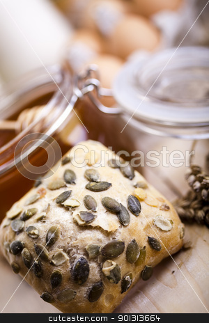 Compositions bread stock photo, Still-life assortment of baked bread. by Sebastian Duda