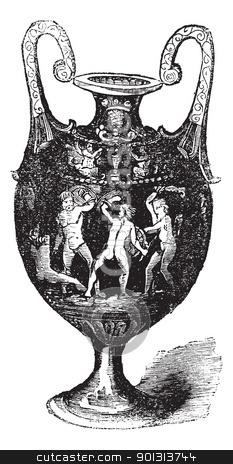 Italian majolica or maiolica vintage engraving stock vector clipart, Italian majolica or maiolica, vintage engraving. Old engraved illustration of Italian majolica. by Patrick Guenette