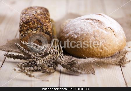 Bread stock photo, Still-life assortment of baked bread.  by Sebastian Duda