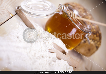 Honey stock photo, Still-life assortment of baked bread. by Sebastian Duda