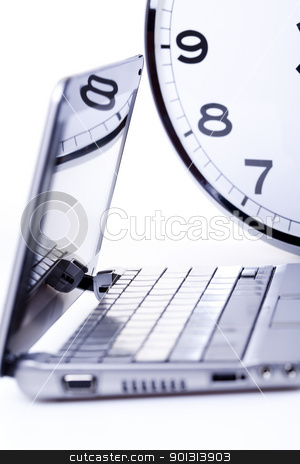 Business attribute, Laptop stock photo, Computer background. by Sebastian Duda