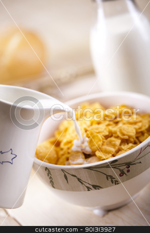 For breakfast stock photo, Still-life assortment of breakfast. by Sebastian Duda