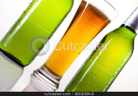 Beer collection, glass  stock photo, Beer collection, glass in studio. by Sebastian Duda