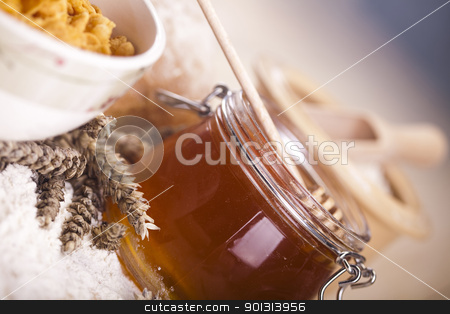 Honey stock photo, Still-life assortment of breakfast. by Sebastian Duda
