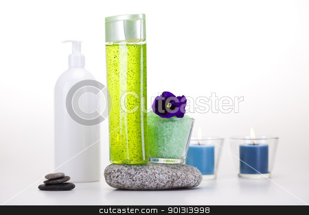 Spa and body care composition  stock photo, Wellness and spa concept. by Sebastian Duda