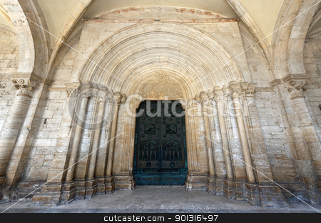 Abbey of Casamari (Frosinone, Lazio, Italy), the church stock photo, Abbey of Casamari (Frosinone, Lazio, Italy), the church by clodio