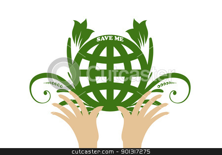 Environmental concept stock vector clipart, Beautiful symbol of environmental protection   by Ingvar Bjork