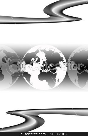 Business elegant background stock vector clipart, Business elegant background by Ingvar Bjork