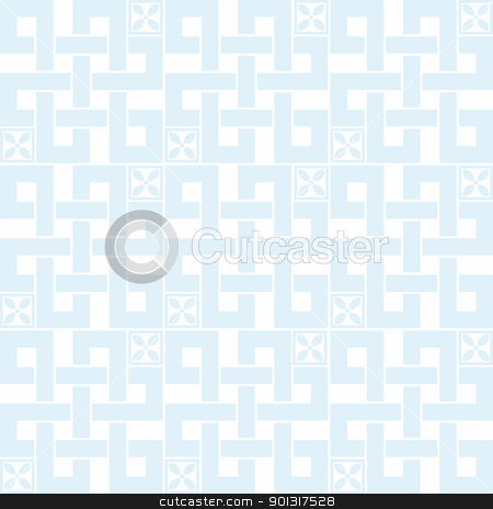 Seamless floral pattern stock vector clipart, Abstract background of beautiful floral seamless pattern by Ingvar Bjork
