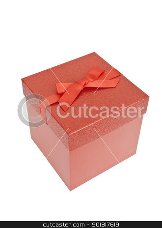 Red Christmas Present stock photo, Red Christmas Present, isolated w/clipping path by Bryan Mullennix