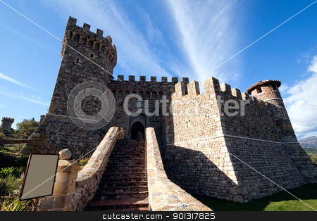 Castle stock photo, The entrance to a stone castle by Kevin Tietz