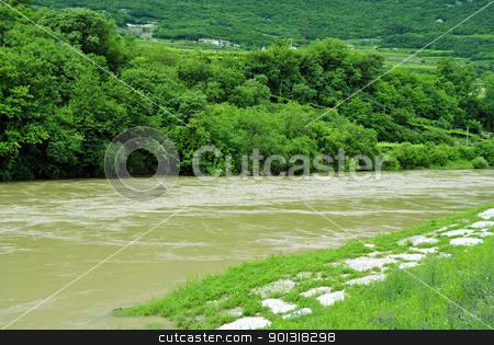 River stock photo, River and spring forest by freeteo