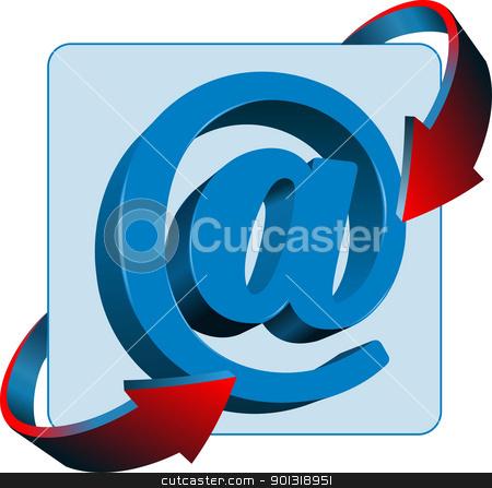 At mail sign contact vector icon stock vector clipart, At mail sign contact vector icon by Leonid Dorfman