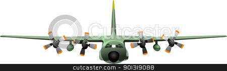 Combat aircraft. Colored vector illustration for designers stock vector clipart, Combat aircraft. Colored vector illustration for designers by Leonid Dorfman