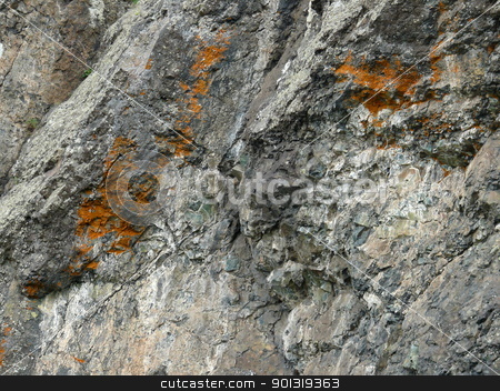 Texture of a rock stock photo, Texture of a rock by Stoyanov