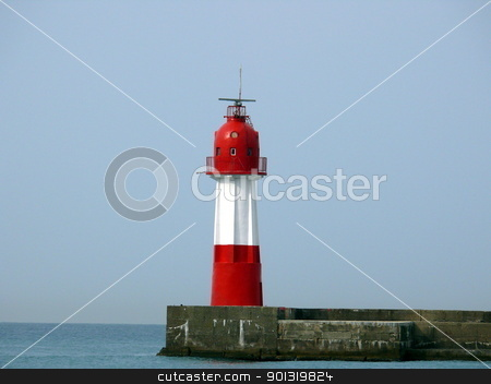 Red lighthouse in Sochi stock photo, Red lighthouse in Sochi by Stoyanov