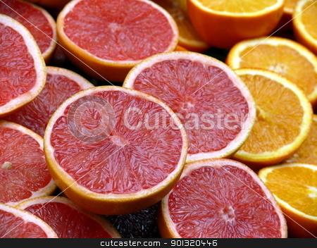 grapefruit and orange backroung  stock photo, grapefruit and orange backroung  by Stoyanov