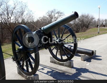 Cannon in Skobelev Park, Pleven, Bulgaria stock photo, Cannon in Skobelev Park, Pleven, Bulgaria by Stoyanov