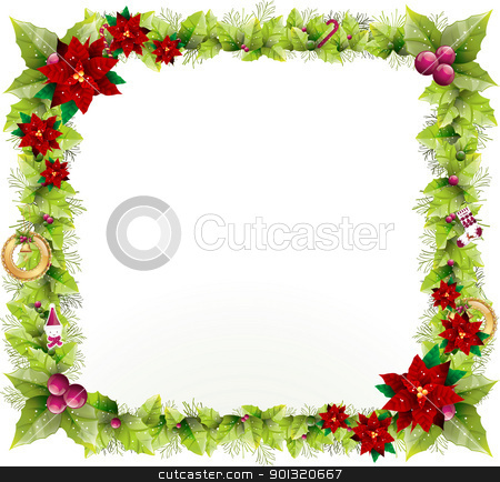 Christmas Background Design To Add Any Text In The Middle Stock Photo