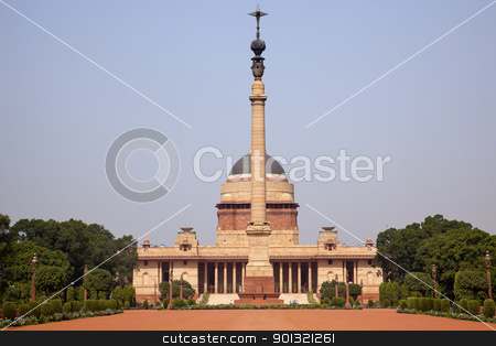 Rashtrapati Bhavan Official Residence President New Delhi India stock photo, Rashtrapati Bhavan Official Residence President New Delhi, India Designed by Edwin Lutyens and completed in 1931 by William Perry