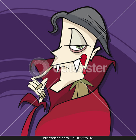 cartoon vampire stock vector clipart, cartoon illustration of funny vampire by Igor Zakowski