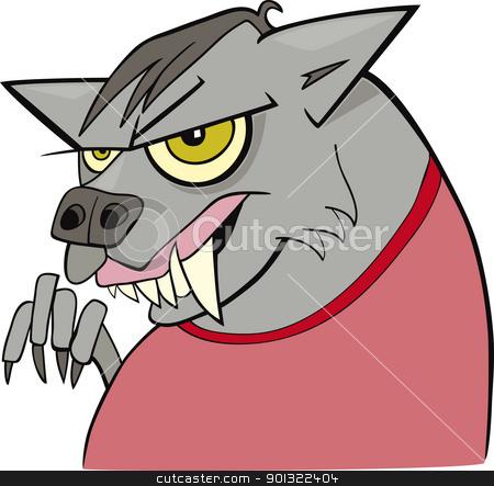 cartoon werewolf stock vector clipart, cartoon illustration of funny werewolf by Igor Zakowski