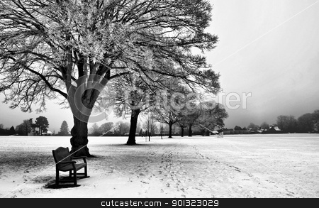 Winter - UK stock photo, Berkhamsted in Hertfordshire in the snow by SRSImages