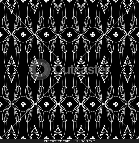 Seamless floral pattern stock vector clipart, Abstract background of beautiful seamless floral pattern by Ingvar Bjork
