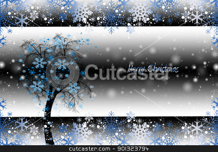 Christams decoration stock vector clipart, Beautiful christmas decoration with floral and snowflakes   by Sasas Design
